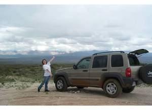 The Jeep we almost lost (photo from it's first offroad trip in 2004)