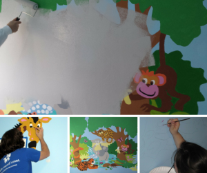 The mural we painstakingly painted in 2010 is now gone!
