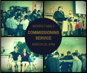 Our commissioning service at Ambassador will be at 4pm on March 29.
